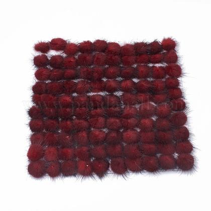 Faux Mink Fur Ball DecorationFIND-S267-4cm-06-1