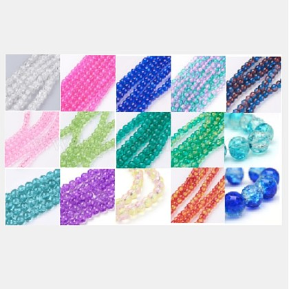 Baking Painted Crackle Glass BeadsCCG-X0011-01-8mm-1