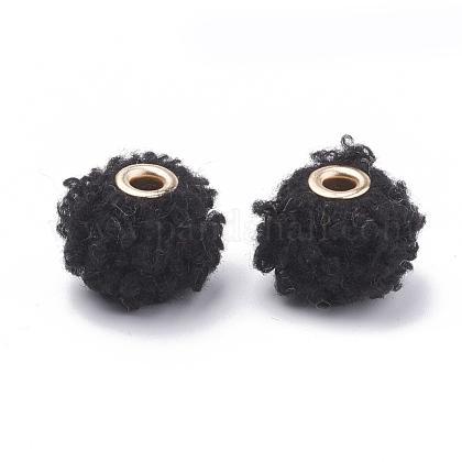 Perlas de tela hecha a mano perlas europeasWOVE-N006-09A-1