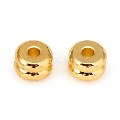 Perlas espaciadoras de latón chapado de larga duraciónKK-D160-21G-1
