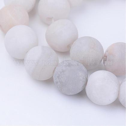 Chapelets de perles d'agate naturelleG-Q462-6mm-09-1