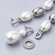 Collares de perlas de concha sintéticaNJEW-Q310-03-3