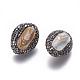 Perlas naturales abalorios de agua dulce cultivadasPEAR-F015-52-2