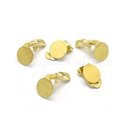 Brass Clip-on Earrings FindingsKK-L184-20C-1