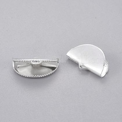 真鍮製カシメリボン止めエンドパーツX-KK-L160-03S-1