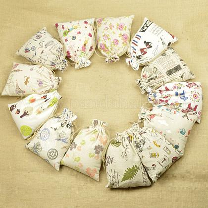 Cloth Packing Pouches Drawstring BagsX-ABAG-R006-13x18-02-1