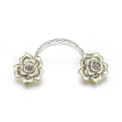 Clips del collar del rhinestone de la aleaciónAJEW-WH0084-02-1