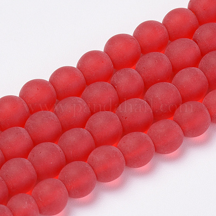 Chapelets de perles en verre transparente  GLAA-Q064-06-6mm-1