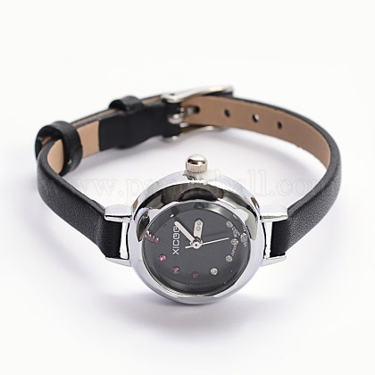 Alloy Cowhide Leather Japanese PC Movement Mechanical WristwatchesX-WACH-F007-06A-1