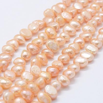 Hebras de perlas de agua dulce cultivadas naturalesPEAR-K004-10B-1
