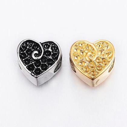 304 Stainless Steel European Beads Rhinestone SettingsSTAS-H367-34-1