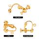 Brass Screw On Clip-on Earring FindingsKK-L164-01G-2