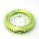 Hilo elástico con cuentas elásticas fuertes, Cuerda de cristal elástica plana, amarilloverde, 0.8 mm; aproximamente 10 m / rollo