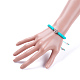 Nylon ajustable pulseras de abalorios trenzado del cordónBJEW-JB05103-03-4
