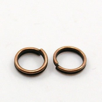Mixed Color Iron Split Rings, Mixed Color, 6x1.3mm; about 4.7mm inner diameter; about 11000pcs/1000g