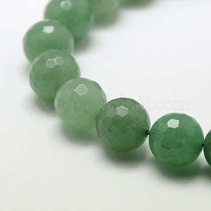 Natural Green Aventurine Beads Strands X-G-M037-12mm-01-1