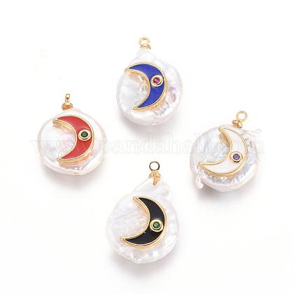 Colgantes naturales de perlas cultivadas de agua dulcePEAR-E300-08KCG-1