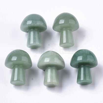 Piedra guasha de aventurina verde naturalG-N0325-02G-1