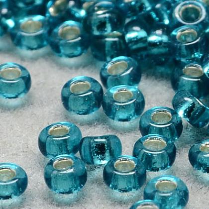 Perles de rocaille en verre transparent fgb® 6/0SEED-Q007-4mm-F51-1