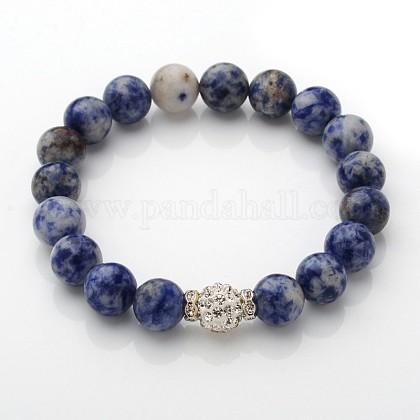 Exquisite Design Natural Gemstone Beaded Stretch BraceletsBJEW-JB01855-03-1
