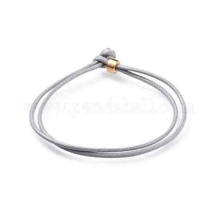 Pulseras de cordón de poliéster encerado coreano unisexBJEW-JB04597-04-1