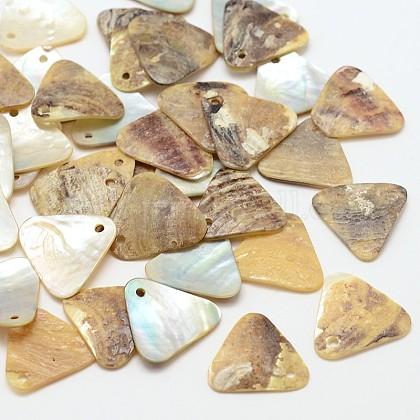 Triangle Natural Akoya Shell CharmsSHEL-N031-08-1
