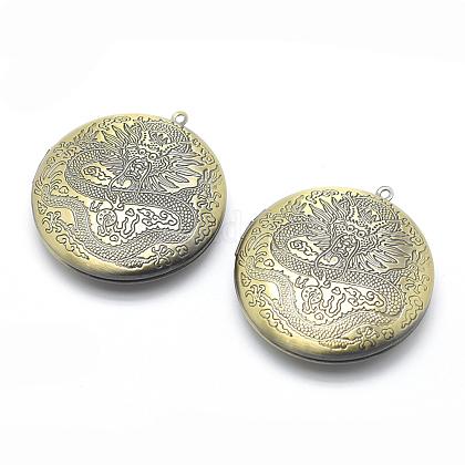 Colgantes medallón de latón ambientalKK-P141-19-NR-1
