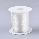 Round Elastic Crystal Thread, Stretchy Bracelet String, Clear, 0.7mm; about 120m/roll