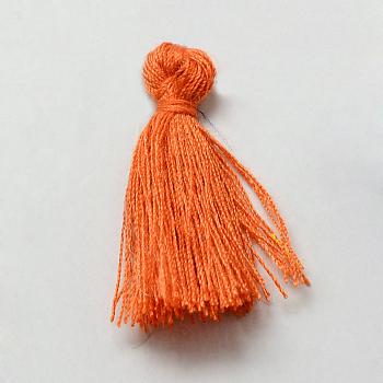 Decoraciones de borla de algodón hechas a mano, decoraciones colgantes, coral, 29~35mm