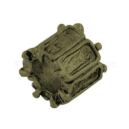チベットスタイル合金柱ヨーロッパビーズカボションセッティングX-TIBEP-7688-AB-NR-1