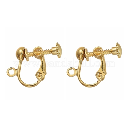 Brass Screw Clip Earring ConverterEC143-NFG-1