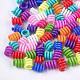 Perles en plastique, Perles avec un grand trou   , couleur mixte, 14~17x12.5mm, trou: 8 mm; environ 840 pcs / 500 g
