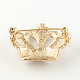 Crown Women's Light Gold Plated Alloy Rhinestone Brooches X-JEWB-R011-13-2