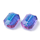 Two Tone Transparent Spray Painted Acrylic Bead ACRP-T005-28-2