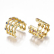 Brass Micro Pave Cubic Zirconia Clip-on EarringsEJEW-S201-53-2