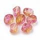 Two Tone Transparent Spray Painted Acrylic Beads ACRP-T005-34A-1