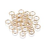 Brass Jump Rings, Open Jump Rings, Golden, 20 Gauge, 7x0.8mm; Inner Diameter: 5.5mm; about 111pcs/10g
