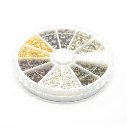 1 Box 6 Colors Iron Crimp Beads CoversIFIN-X0020-NR-B-1