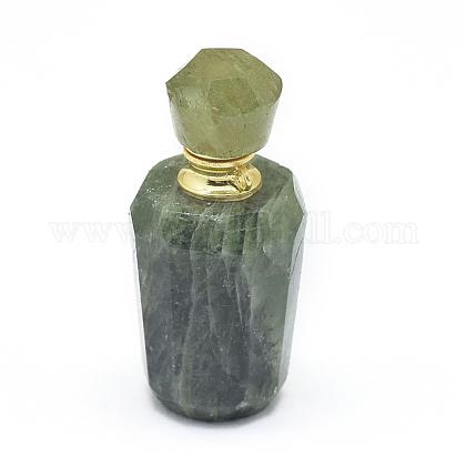 天然プレナイトオープン香水瓶ペンダントG-E556-02E-1