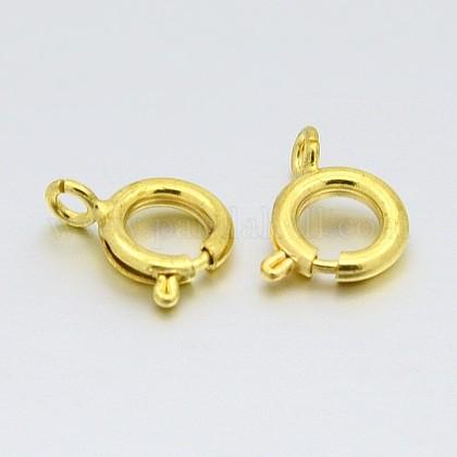 Cierres de anillo de resorte de latónX-KK-H420-G-1