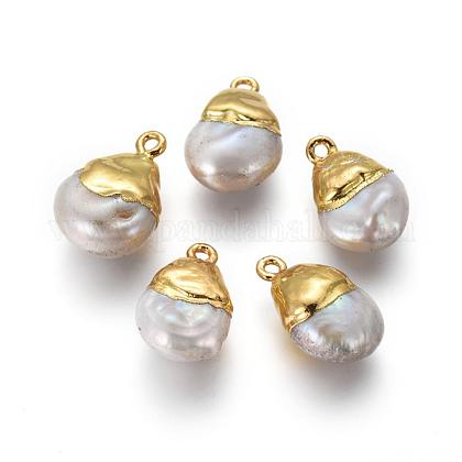 Colgantes naturales de perlas cultivadas de agua dulcePEAR-F011-65G-1