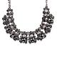 Mujeres de la moda de joya de zinc collares del collar de rhinestone de cristal de aleación babero declaración gargantillaNJEW-BB15143-D-5