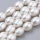 Hebras de perlas de agua dulce cultivadas naturalesPEAR-S012-40A-1