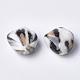 Printed Acrylic Beads, NavajoWhite, 23.5x23.5x13mm, Hole: 3mm