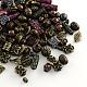 Assortiment de perles acryliques de style antique, pour la fabrication de bijoux, formes mixtes, couleur mixte, 6~25x5~15x2~12mm, Trou: 1~3mm