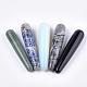 Bastones de masaje con piedras preciosas naturales y sintéticasG-T125-30-1