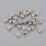 Tibetan Silver Spacer Beads, Bicone, Lead Free & Cadmium Free, Antique Silver, about 6mm long, 5mm wide, hole: 1mm