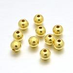 Perles rondes en argent sterling plaqué or véritable, 24mm, trou: 2 mm; environ 1 pcs / 868 g