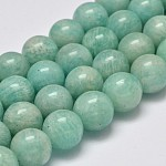 Grade AB Natural Amazonite Round Bead Strands, 12mm, Hole: 1mm; about 32pcs/strand, 15.5
