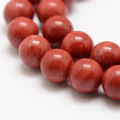 Natural Red Jasper Beads StrandsG-E375-6mm-03-1